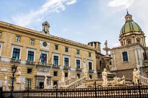 Praetoria square in Palermo photo