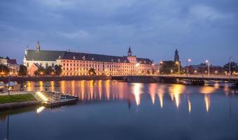 Odra river waterfront in Wroclaw, Poland