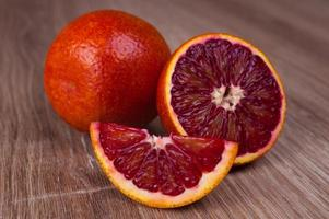 red blood sicilian orange whole, half and wegde