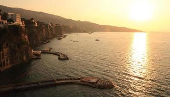 Sun sets over the bay in Sorrento