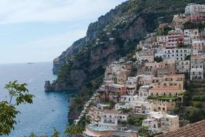 Positano village, from Amalfi Coast, Italy