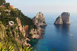 Autumn day on the coast of the Capri Island