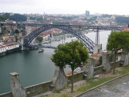 Bridge over River Duero, Portugal photo