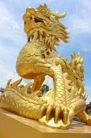 Golden dragon statue in Vietnam photo