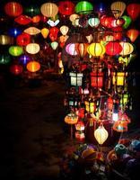 Vietnamese silk lantern photo