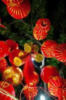 red lanterns and lucky knots photo