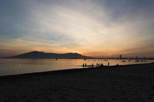 Sunrise of fishermen