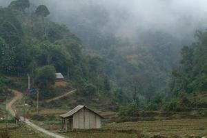 Hill tribes village in Northern of Vietnam.
