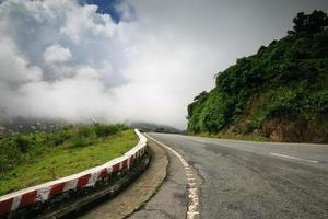 High alpine road