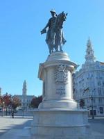 El rey Pedro IV de Portugal en la plaza Liberdade