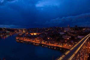 old Porto at night, Portugal photo