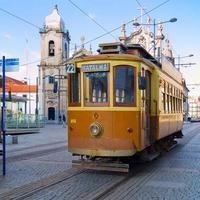 Antiguo tranvía de Porto, Portugal