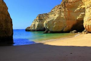 Cliffs at Algarve coast, Portugal photo