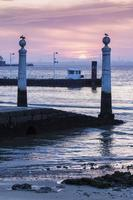 Ferry pier in the center of Lisbon photo