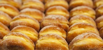 Cream stuffed pastries