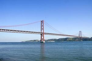 bridge of 25th April over river Tajo photo