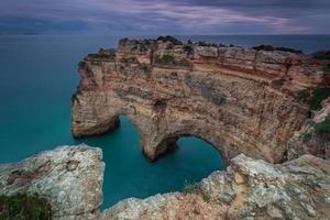 Heart shape in the maritime landscape. The coast of Portugal. photo