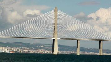 Vasco Da Gama Bridge In Lisbon Portugal,Southwestern Europe