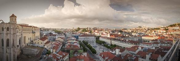 Lisbon city panorama from above