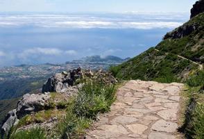 walking on Pico Ruivo- Madeira Island