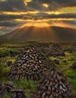 Turf Stacks, Connemara photo