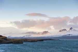 Beautiful view of icelandic