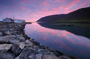 Dawn in siglufjörður.