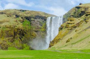 Skogafoss waterfall in Iceland photo
