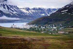 Fjord in Iceland, region of Austurland