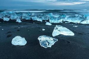 icebergs at jokulsarlon in south Iceland