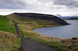 cratera vulcânica na Islândia