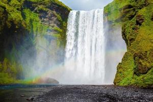 The waterfall in Iceland - Skogafoss photo