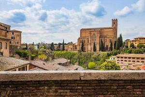 The Siena cityscape in southern Tuscany, Italy