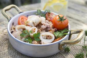 Farro with seafood