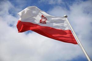 bandera de polonia foto