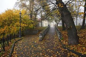 Park in Wieliczka. Poland