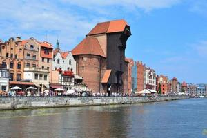 Beautiful quay in Gdansk