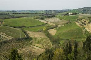 panorama, toscana, colina, certaldo, florencia