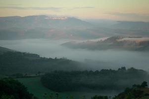 Early morning view towards Buonconvento, Tuscany photo