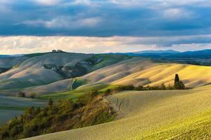 Fantastic sunny fall field in Italy