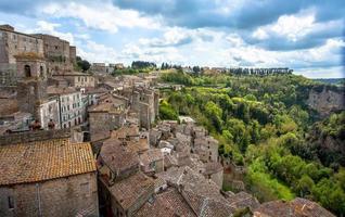 Sorano Stadt Toskana Italien