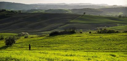 pôr do sol em cortona. Toscana pienza. Itália. Europa.