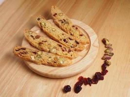 biscotti de pistacho y arándano
