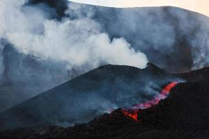 Mount Etna produces fountain of lava