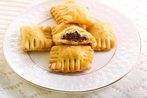 Fig filling pastries on plate