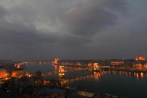 Budapest at dusk.