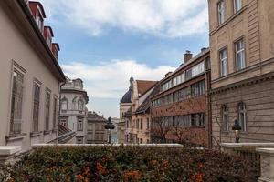 Buildings in the historic center of Budapest, Hungary photo