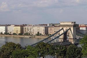 Puente de las cadenas de Budapest hito Hungría