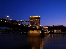 Chain Bridge of Budapest city