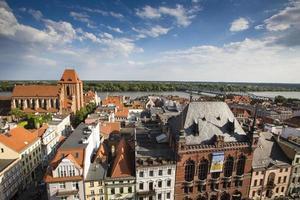 Poland - Torun, city divided by Vistula river between Pomerania